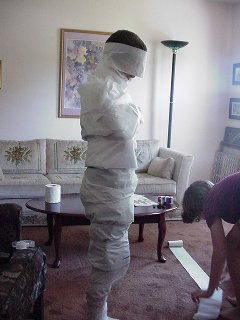 Andy as a Mummy