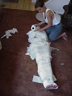 Sarah as a Mummy